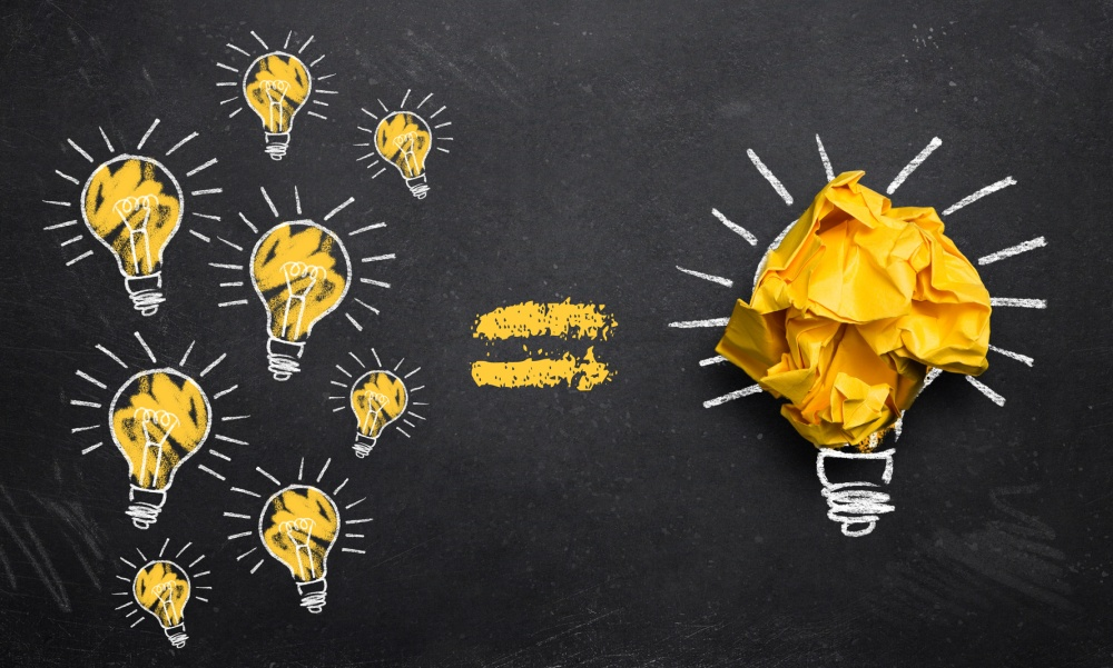 viele kleine Ideen fhren zu einer groen Innovation